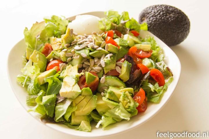 Salade avocado, tomaat, ei